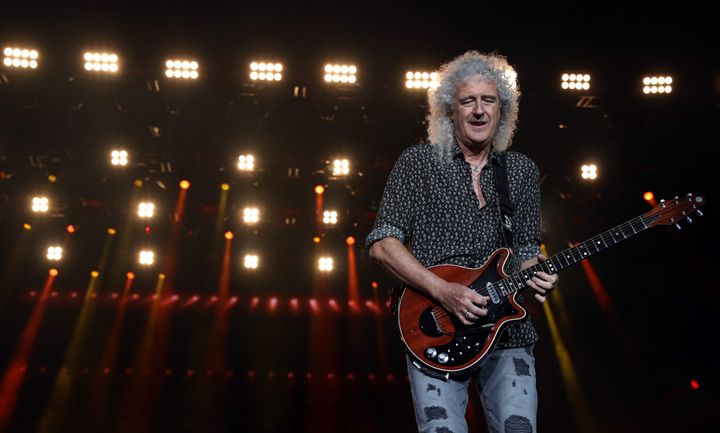 Brian May on stage in Australia back in February