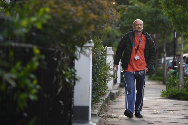 Prime Minister Boris Johnson's senior aide Dominic Cummings arriving at his north London home, as lockdown...