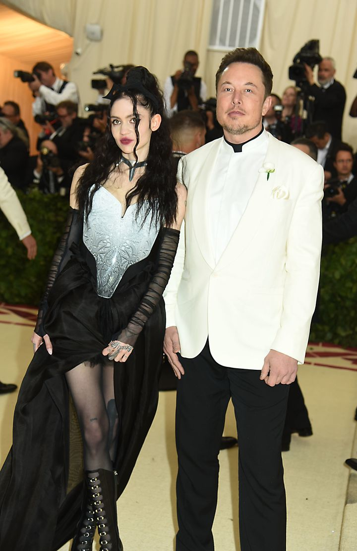 Grimes and Elon Musk at the Met Gala in 2018.