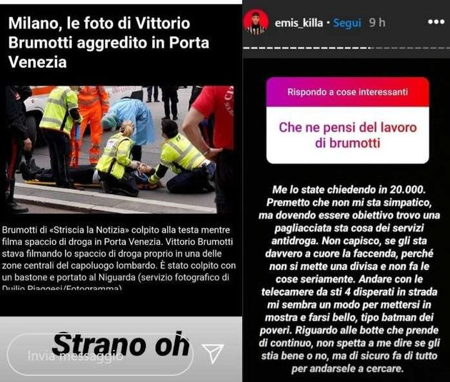 La storia Instagram di Emis