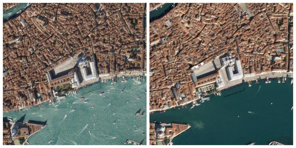 Αριστερά: Η Βενετία σφύζει...