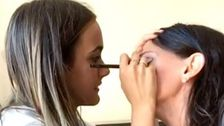 Courteney Cox Has Her Eyes Made Up By Daughter Coco And Gets An Earful