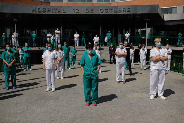 Así empezaron las protestas silenciosas, en el Hospital 12 de Octubre de