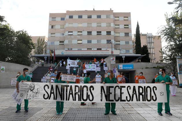 La protesta en el Hospital Gregorio