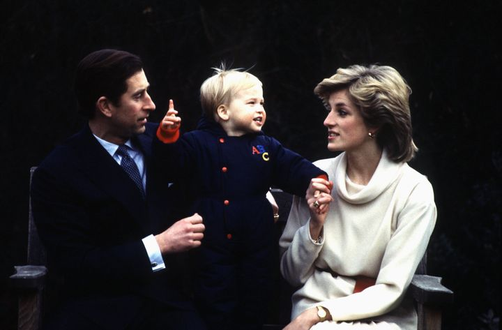 Prince Charles and Princess Diana with their son Prince William in 1983.