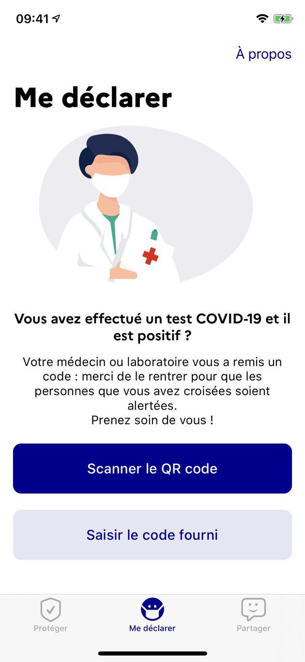 En cas de contamination au coronavirus, il faudra rentrer dans l'application un code fourni par le médecin...