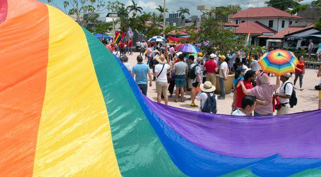 Une manifestation devant la Cour suprême du Costa Rica pour réclamer la légalisation...
