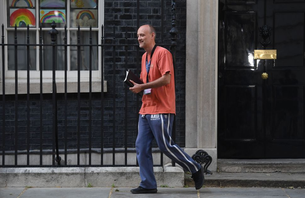 Cummings leaving 10 Downing Street, London, as lockdown questions continue to bombard the government after it emerged that he