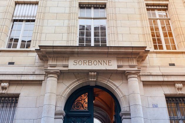 Sorbonne University in Paris. Name is derived from College de Sorbonne, founded in 1257 by Robert de...