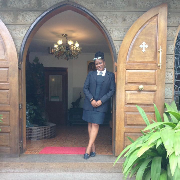 Luann Jones, shown here in Kenya where she served last fall, said she feels funeral home staff have been overlooked during the COVID-19 pandemic.