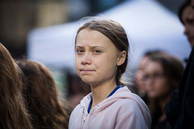 Greta Thunberg attends a climate rally in Vancouver on Oct. 25,