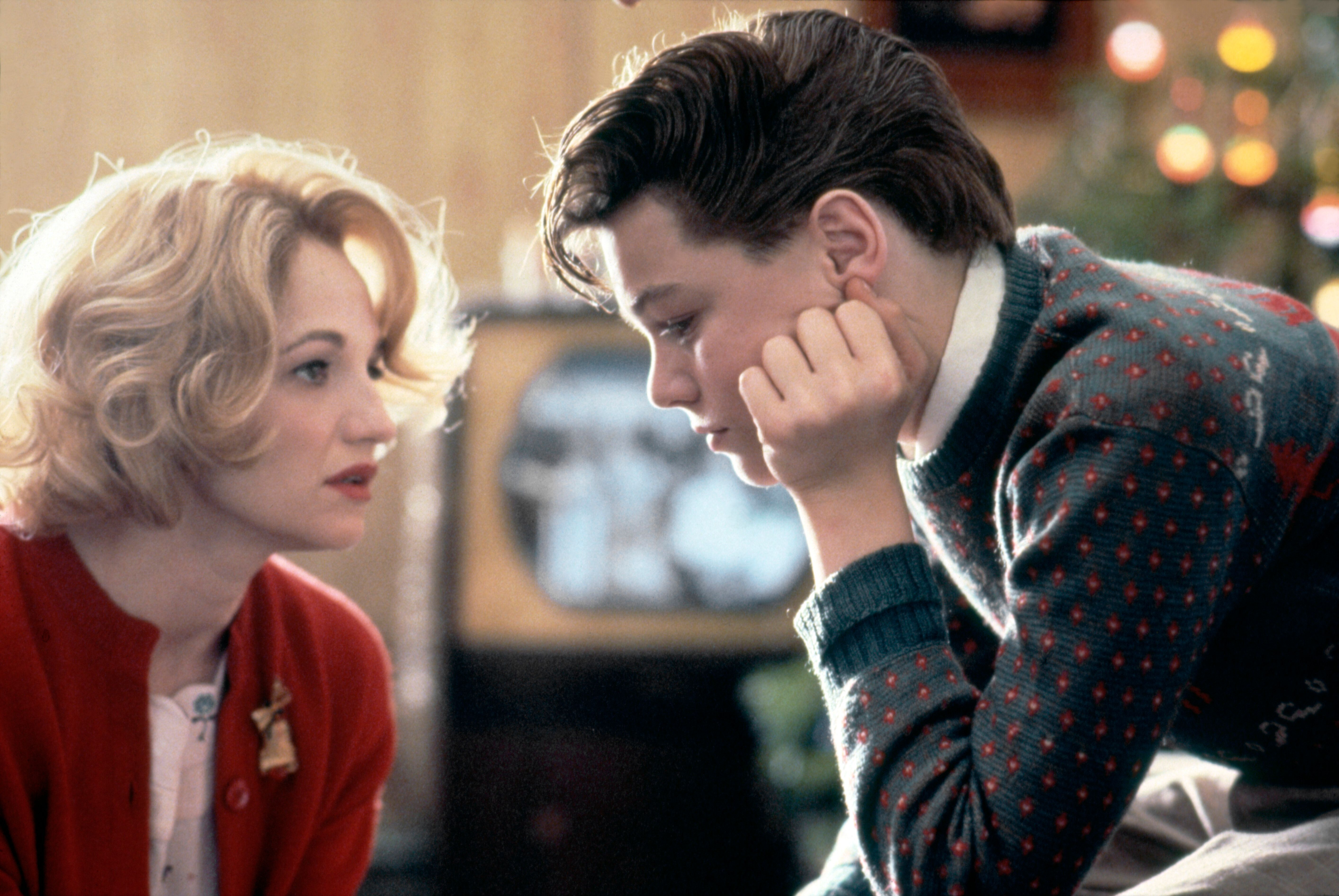 Ellen Barkin and Leonardo DiCaprio in