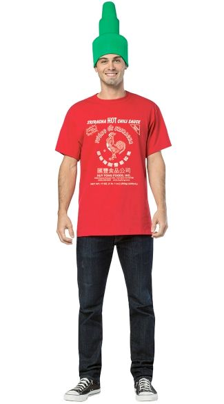 """Dads who love Sriracha will have the hots for <a href=""""https://www.yandy.com/Sriracha-Tee-Kit.php"""" target=""""_blank"""">this shirt"""
