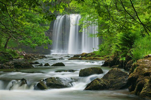 Sgwd yr Eira Waterfall, Brecon Beacons, Wales