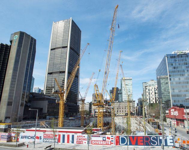 Un chantier de construction, à Montréal, le 8 mai 2020 (photo