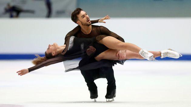 Guillaume Cizeron, ici avec Gabriella Papadakis lors d'une compétition en janvier 2020, a publié...