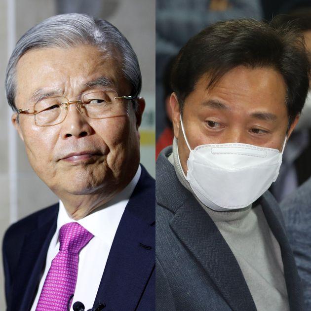 김종인 미래통합당 비대위원장과 오세훈 전