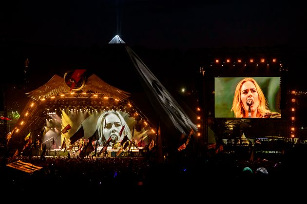 Adele played the Pyramid Stage in