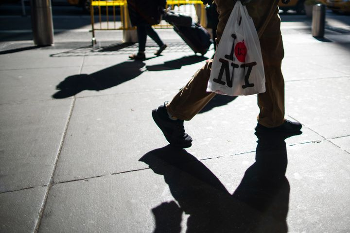 New York's ban on single-use plastic bags went into effect March 1, but enforcement is being delayed, due to the ongoing coro