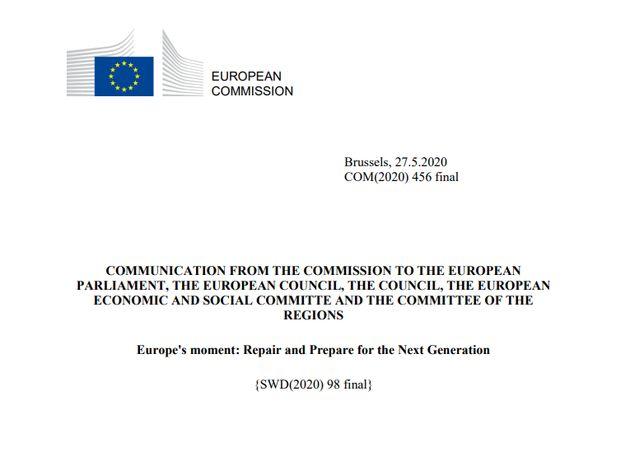 Recovery fund, testo finale della Commissione