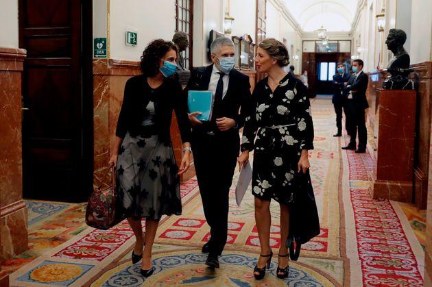 María Jesús Montero, Grande-Marlaska y Yolanda
