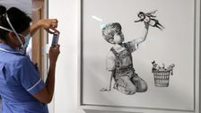 Audacious Thief Tries To Steal Banksy's Tribute To Health Care Workers From Hospital