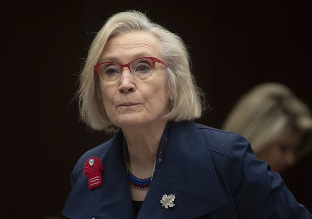 Crown-Indigenous Relations Minister Carolyn Bennett takes her seat as she wait to appear before the Indigenous...