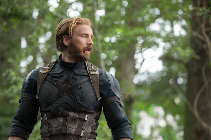 """Captain America about to stop&nbsp;<a href=""""https://www.huffpost.com/entry/martin-scorsese-cinema-art-marvel-movies_n_5dc116b"""