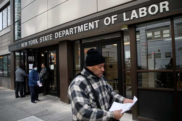 Visitors to the Department of Labor March 18 are turned away at the door by personnel due to closures over coronavirus concer