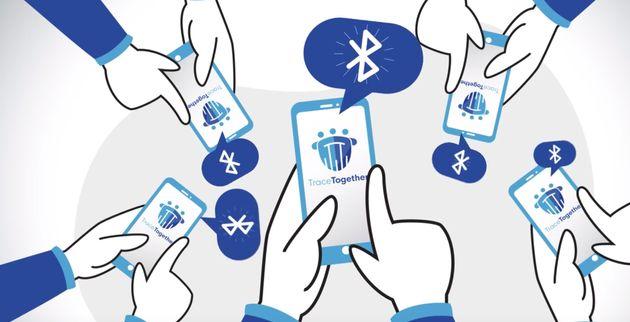 Illustration de l'application TraceTogether