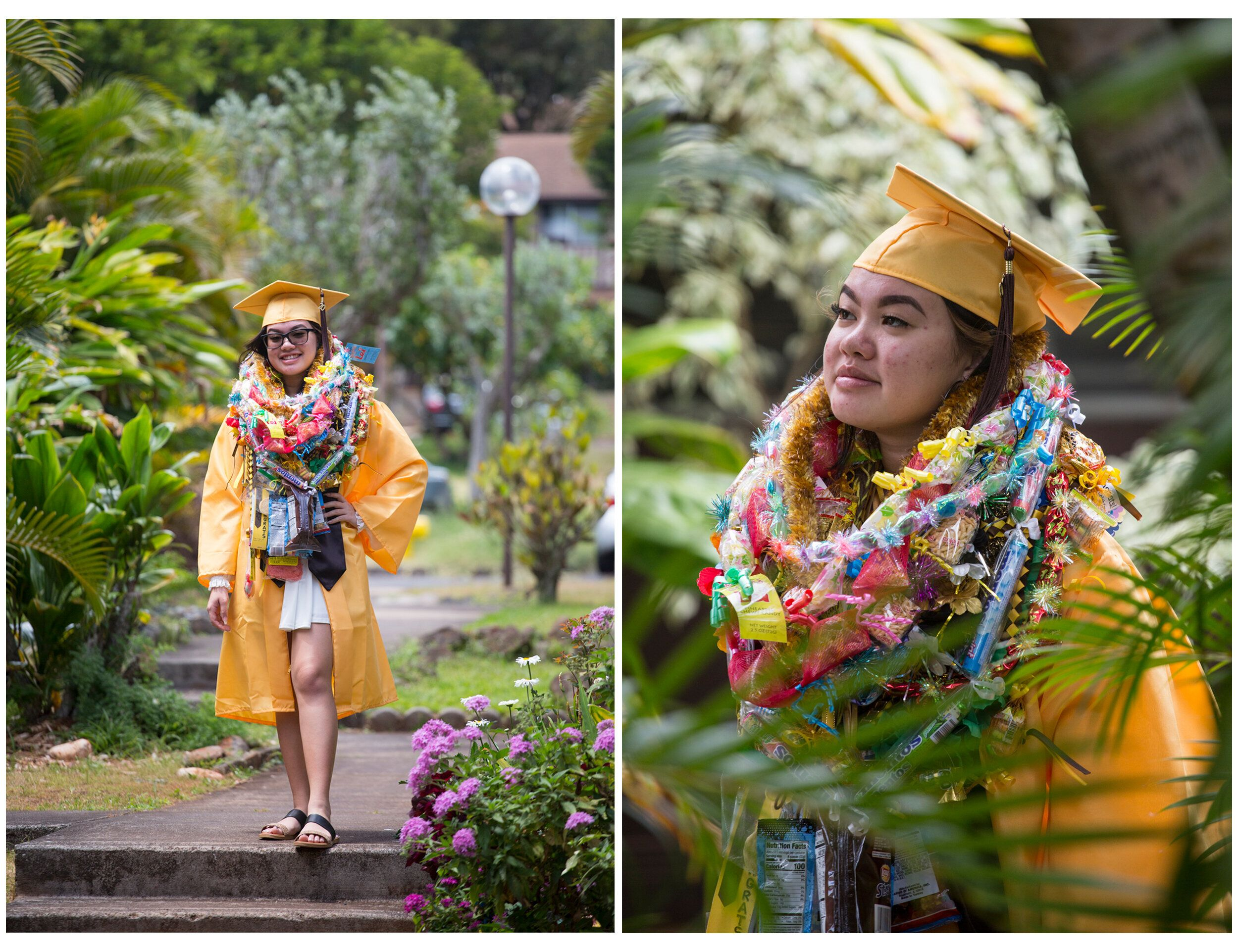Ashley Phommavong, a Mililani High School graduate, was one of the few graduates to attend a socially distanced ceremony.&nbs