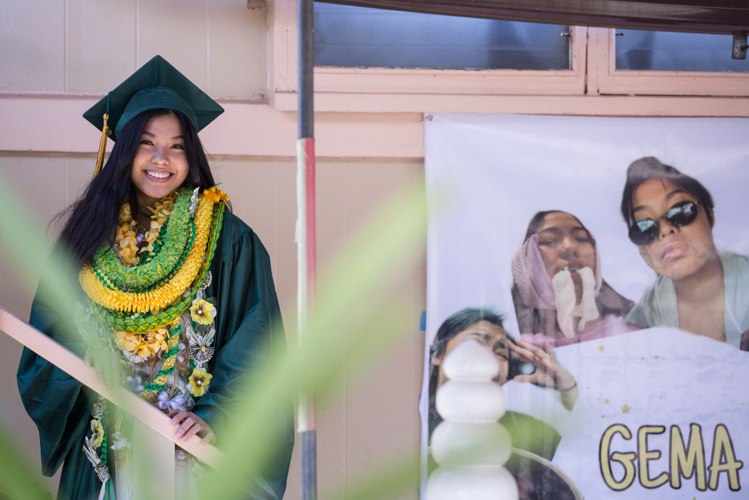 Gemalyn Yutob, a Leilehua High School graduate, found her drive-by graduation a way to stay positive amid the pandemic.
