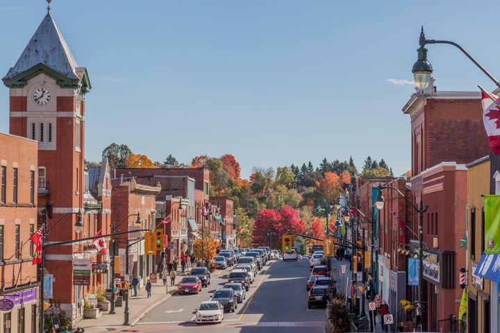 """Bracebridge, Ont., a town in the """"cottage country"""" north of Toronto, is seen in this stock photo taken Oct. 15, 2016."""