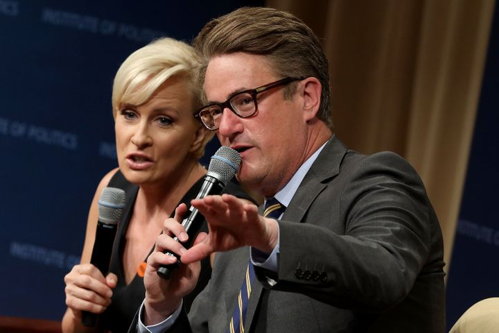 Joe Scarborough (right) and Mika Brzezinski (left) are outspoken critics of Trump.