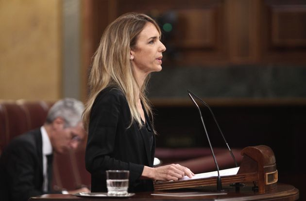 Cayetana Álvarez de Toledo, durante la sesión de control al