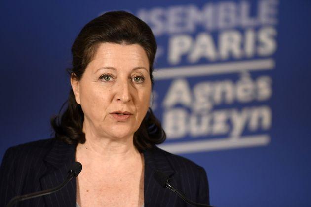 Agnes Buzyn en conférence de presse à son QG de campagne à Paris le 15