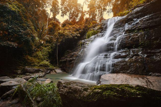 Tad Mork Waterfall, Chiang Mai, Thailand
