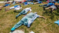 Les infirmières de la FIQ se disent «mortes de fatigue» et manifestent