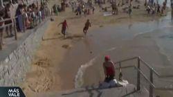 Agreden a un reportero de La Sexta cuando informaba de que la playa de La Concha estaba