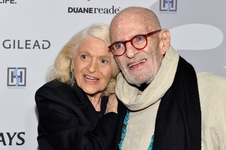 Edie Windsor and Larry Kramer at a gala in New York City in March 2017.