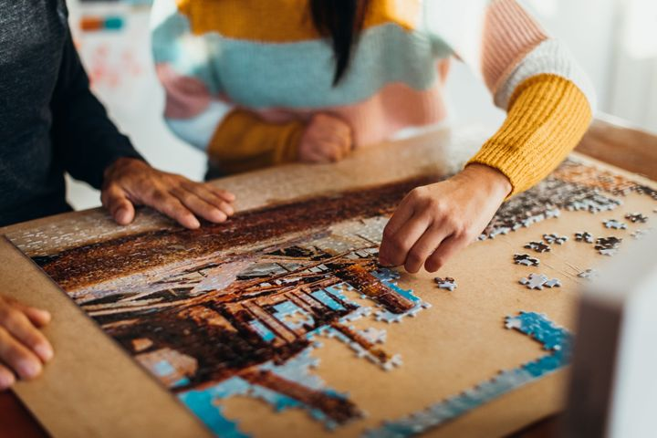 Jigsaw puzzles allow you to see the progress you're making.