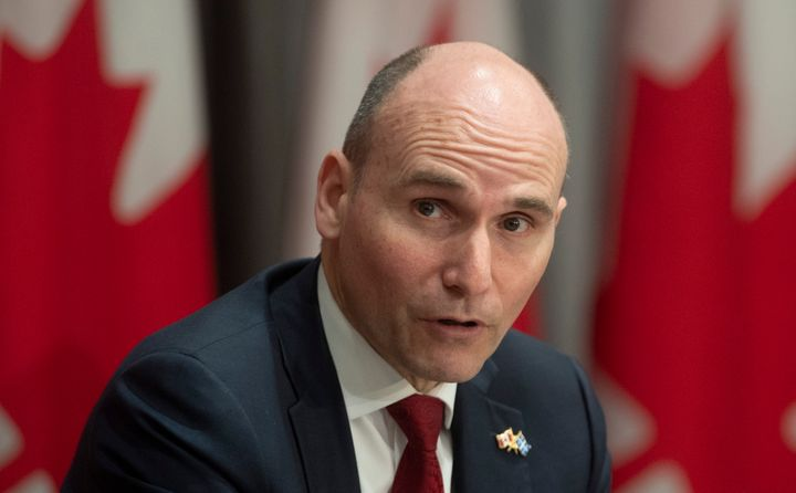 President of the Treasury Board Jean-Yves Duclos responds to a question during a news conference April 21, 2020 in Ottawa.