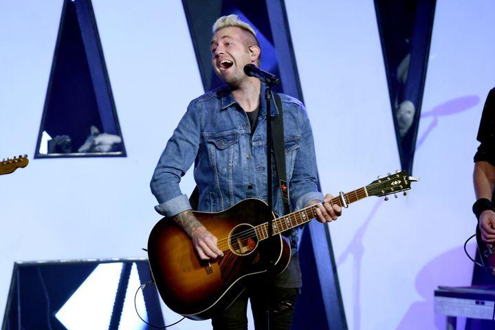 Hawk Nelson's Jonathan Steingard performs in Nashville in 2017.