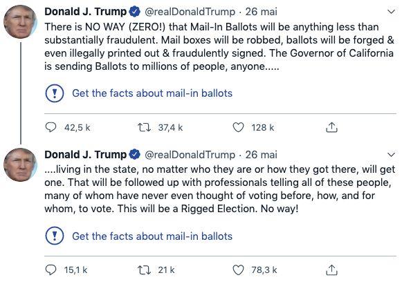 Trump, avant l'élection présidentielle américaine, enrage contre le vote par