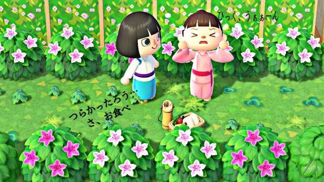 일본의 '모여봐요 동물의 숲' 유저가 게임 안에 '센과 치히로의 행방불명' 세계를 재현했다 (사진)