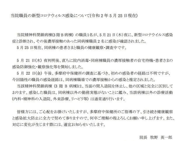 武蔵野中央病院の公式サイトより