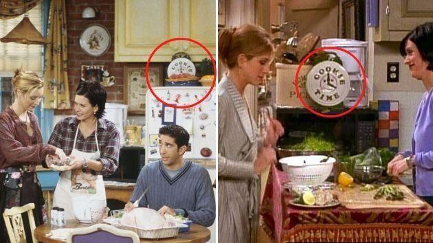 Caja de galletas en la cocina de Monica y Rachel en 'Friends'.