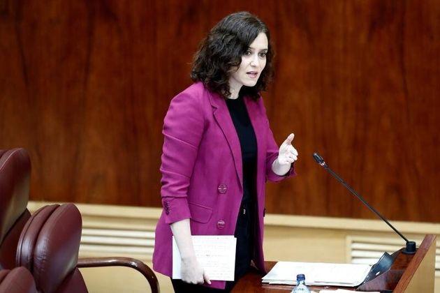 Isabel Díaz Ayuso, en la Asamble de