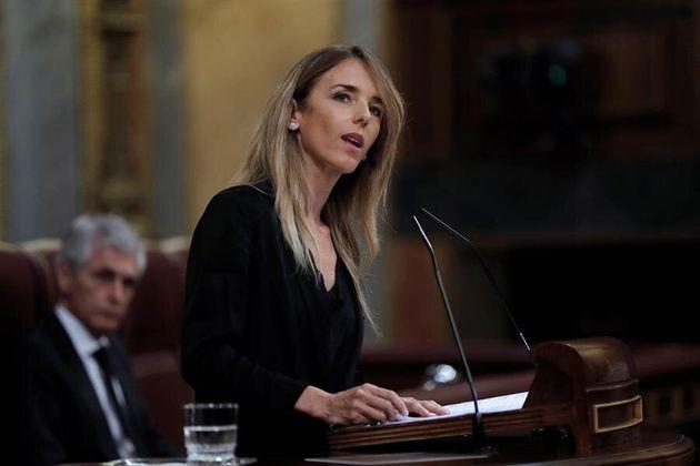 La portavoz del Grupo Popular, Cayetana Álvarez de Toledo, durante su intervención en el pleno celebrado...