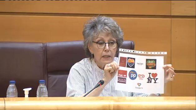 La imagen con la que Rosa María Mateo ha respondido a Manuel